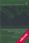 Cover of European Standardisation of Services and its Impact on Private Law: Paradoxes of Convergence (eBook)