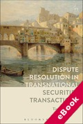Cover of Dispute Resolution in Transnational Securities Transactions (eBook)