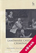 Cover of Landmark Cases in Criminal Law (eBook)