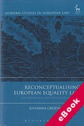 Cover of Reconceptualising European Equality Law: A Comparative Institutional Analysis (eBook)