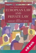 Cover of Cases, Materials and Text on European Law and Private Law (eBook)