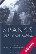 Cover of A Bank's Duty of Care (eBook)
