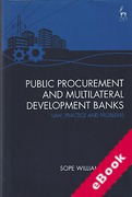Cover of Public Procurement and Multilateral Development Banks: Law, Practice and Problems (eBook)