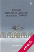 Cover of Consumer Vulnerability and Welfare in Mortgage Contracts (eBook)