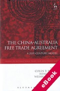 Cover of The China-Australia Free Trade Agreement: A 21st-Century Model (eBook)