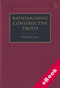 Cover of Rationalising Constructive Trusts (eBook)
