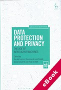 Cover of Data Protection and Privacy: The Age of Intelligent Machines (eBook)