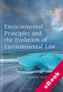 Cover of Environmental Principles and the Evolution of Environmental Law (eBook)