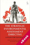 Cover of The Strategic Environmental Assessment Directive: A Plan for Success? (eBook)