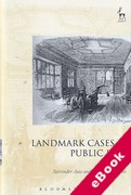 Cover of Landmark Cases in Public Law (eBook)