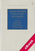 Cover of Cross-Border Litigation in Europe (eBook)