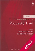 Cover of Modern Studies in Property Law: Volume 9 (eBook)