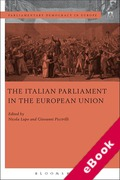 Cover of The Italian Parliament in the European Union (eBook)