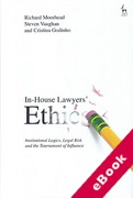 Cover of In-House Lawyers' Ethics: Institutional Logics, Legal Risk and the Tournament of Influence (eBook)