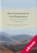 Cover of New Perspectives on Land Registration: Contemporary Problems and Solutions (eBook)