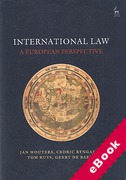 Cover of International Law: A European Perspective (eBook)