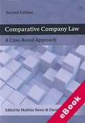 Cover of Comparative Company Law: A Case-Based Approach (eBook)