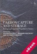 Cover of Carbon Capture and Storage: Emerging Legal and Regulatory Issues (eBook)
