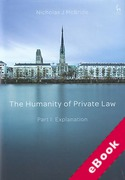 Cover of The Humanity of Private Law - Part I: Explanation (eBook)
