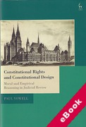 Cover of Constitutional Rights and Constitutional Design: Moral and Empirical Reasoning in Judicial Review (eBook)