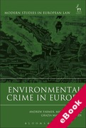 Cover of Environmental Crime in Europe (eBook)