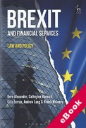 Cover of Brexit and Financial Services: Law and Policy (eBook)