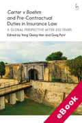 Cover of Pre-Contractual Duties in Insurance Law: Carter v Boehm (1766) After 250 Years (eBook)
