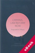 Cover of Criminal Law Reform Now: Proposals and Critique (eBook)