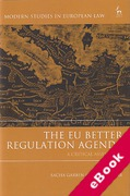 Cover of The EU Better Regulation Agenda: A Critical Assessment (eBook)