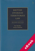 Cover of British Overseas Territories Law (eBook)