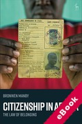 Cover of Citizenship in Africa: The Law of Belonging (eBook)