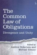 Cover of The Common Law of Obligations: Divergence and Unity