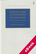 Cover of Forum (Non) Conveniens in England: Past, Present, and Future (eBook)