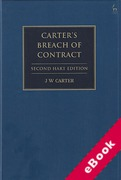 Cover of Carter's Breach of Contract (eBook)