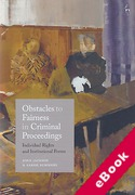 Cover of Obstacles to Fairness in Criminal Proceedings: Individual Rights and Institutional Forms (eBook)