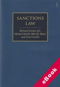 Cover of Sanctions Law (eBook)