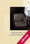 Cover of Landmark Cases in Succession Law (eBook)