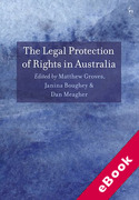Cover of The Legal Protection of Rights in Australia (eBook)