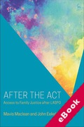 Cover of After the Act: Access to Family Justice after LASPO (eBook)