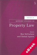 Cover of Modern Studies in Property Law: Volume 10 (eBook)