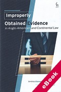 Cover of Improperly Obtained Evidence in Anglo-American and Continental Law (eBook)