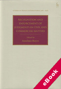 Cover of Recognition and Enforcement of Judgments in Civil and Commercial Matters (eBook)