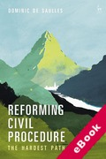 Cover of Reforming Civil Procedure: The Hardest Path (eBook)