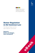 Cover of Better Regulation in EU Contract Law: The Fitness Check and the New Deal for Consumers (eBook)