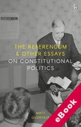 Cover of The Referendum and Other Essays on Constitutional Politics (eBook)