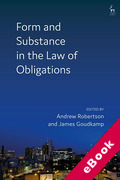 Cover of Form and Substance in the Law of Obligations (eBook)