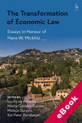 Cover of The Transformation of Economic Law: Essays in Honour of Hans-W. Micklitz (eBook)
