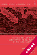 Cover of Critical Reflections on Constitutional Democracy in the European Union (eBook)