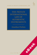 Cover of The Private International Law of Authentic Instruments (eBook)