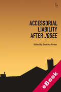 Cover of Accessorial Liability after 'Jogee' (eBook)